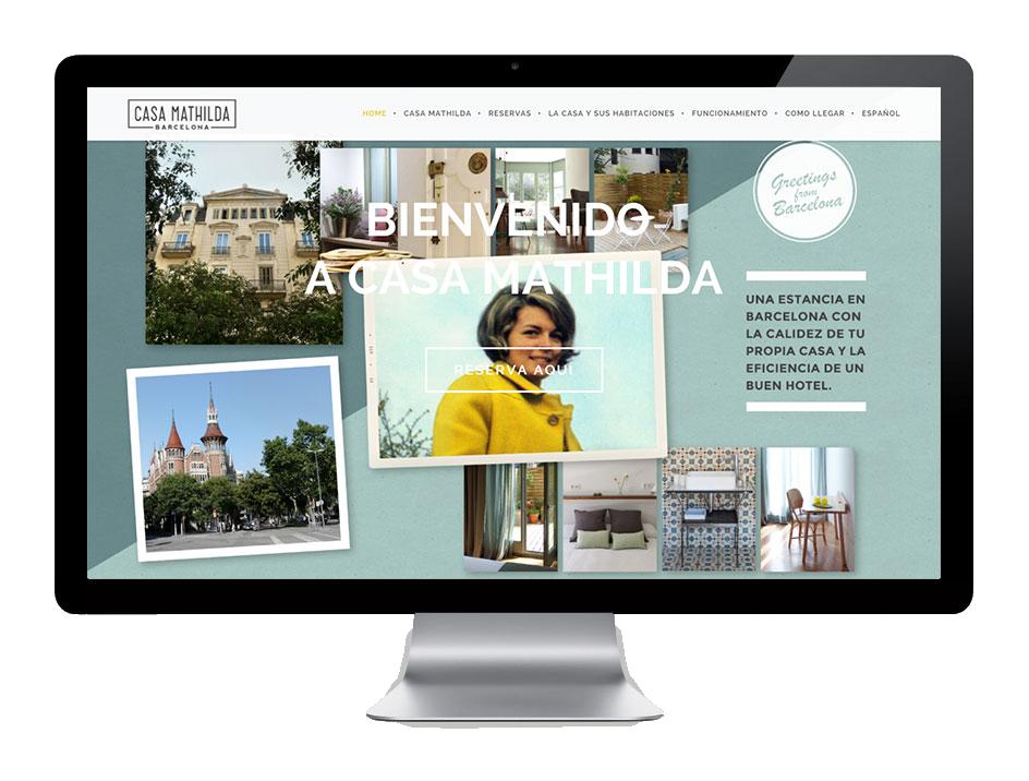 Desde KUINI Estudio os presentamos el diseño web y el desarrollo de la identidad corporativa desde Estudio Gerundio de Casa Mathilda.
